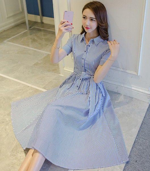 怎么穿又酷又有女人味?衬衫裙帮你