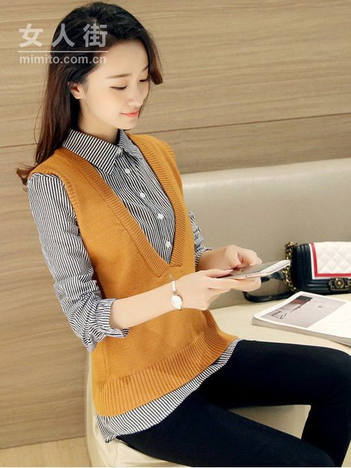 衬衫毛衣一件搞定,美出新高度